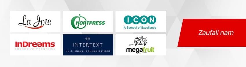 Logotypy klientów, którzy zdecydowali się na usługi informatyczne firmy Exigo